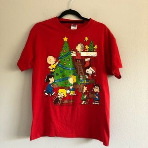 Peanuts Christmas Graphic Tee Sz M